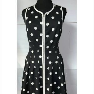 Betsy Johnston  Polka Dot Sleeveless Dress 10
